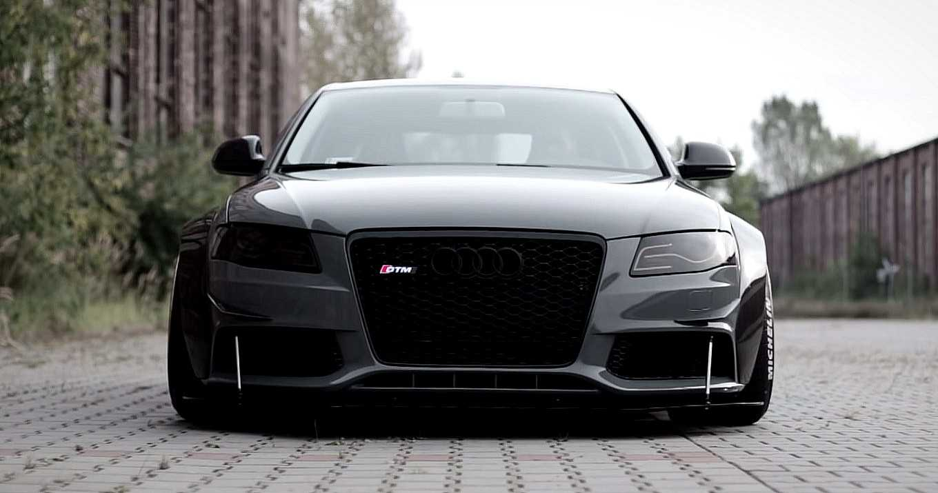 crazy audi a4 v8 carbon widebody photos video audi. Black Bedroom Furniture Sets. Home Design Ideas