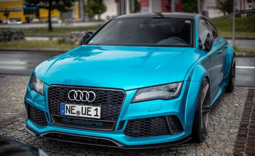Amazing Audi Rs7 In Blue Chrome Photos Audi Lovers