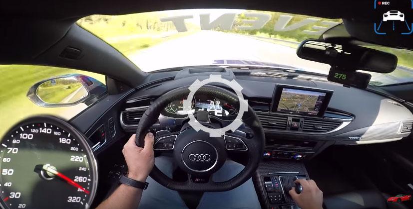 Audi Rs7 750 Hp Autobahn Pov 325 Km H Acceleration Top Speed
