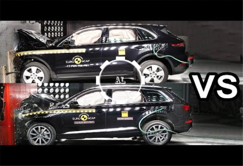 2017 audi q7 vs 2017 porsche cayenne crash test audi lovers. Black Bedroom Furniture Sets. Home Design Ideas