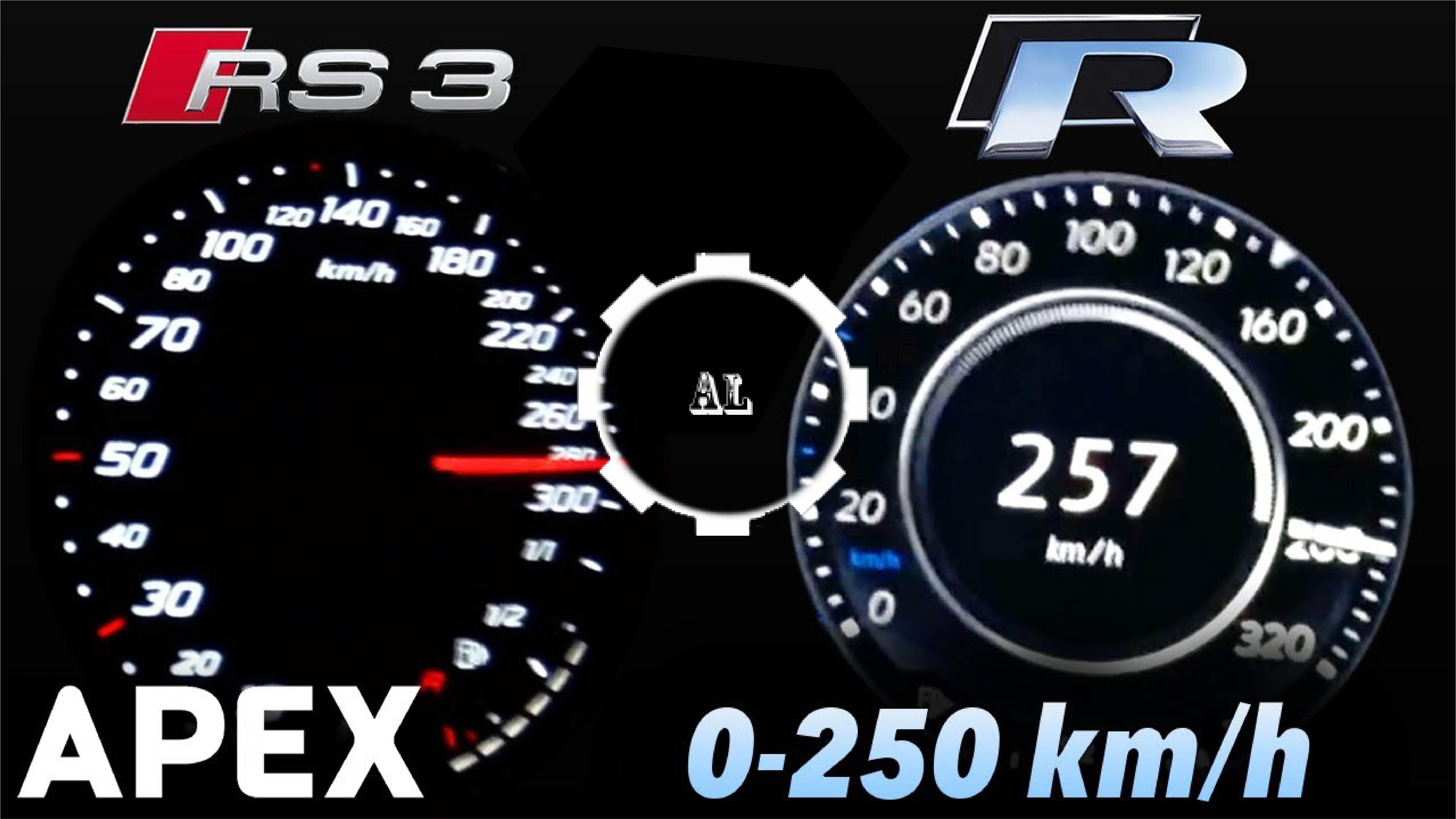 VW Golf R vs Audi RS3 - Acceleration - Audi Lovers